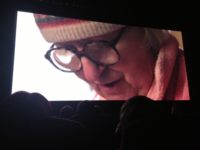 Sneaky photo in the cinema - sorry! :)